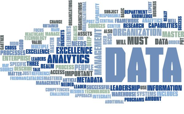 Data and Analytics leaders word cloud
